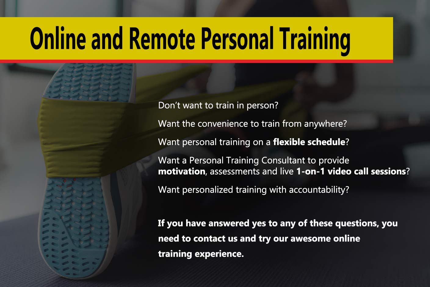 Online and Remote Personal Training